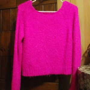 Decree Hot Pink Fuzzy Sweater